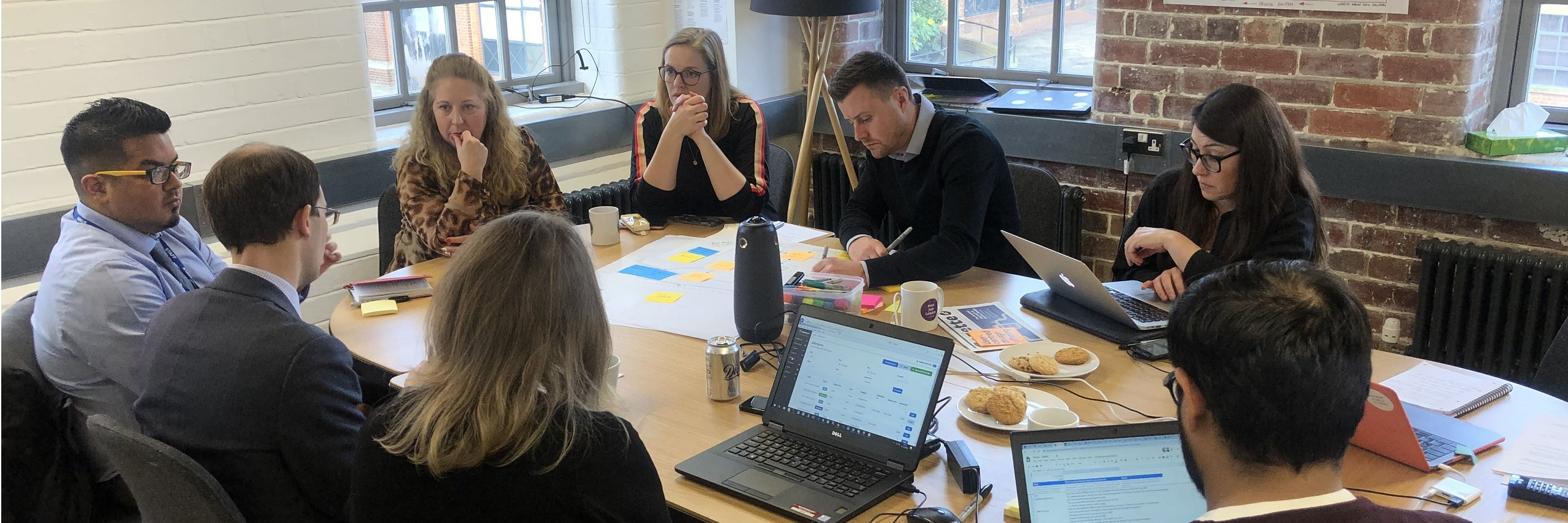 Face to face user research session with Bradford MDC during the Discovery phase